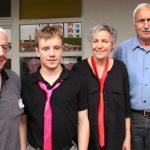 Vorstandsmitglieder vom Freundes- und Förderverein mit ICH BIN HIER